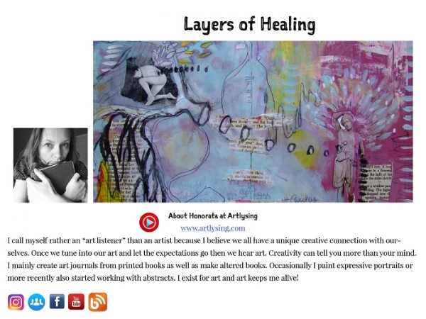 Art to heal your soul- art journal collaborative e-book
