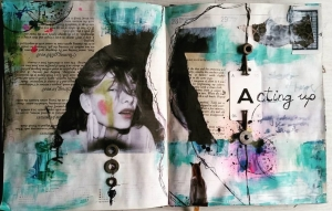 Art Journaling with...yourself