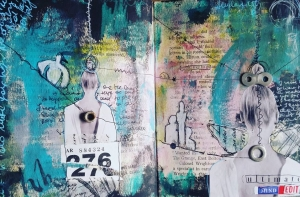 Episode 5 of Subconscious Collage for Art Journaling